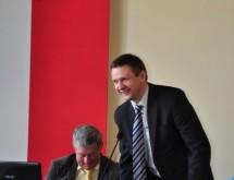 Burmistrz Miasta Brzeziny Marcin Pluta z Prezesem SPS